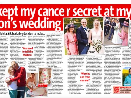 I kept my cancer a secret at my son's wedding