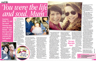 'You were the life and soul, Mum'