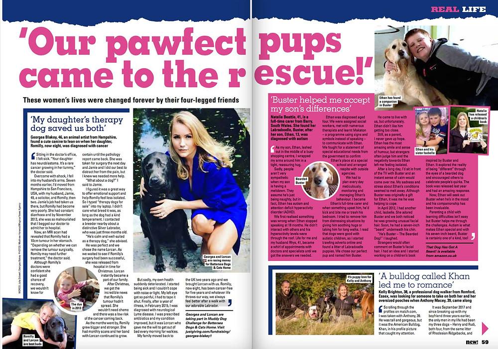 new! magazine dog story