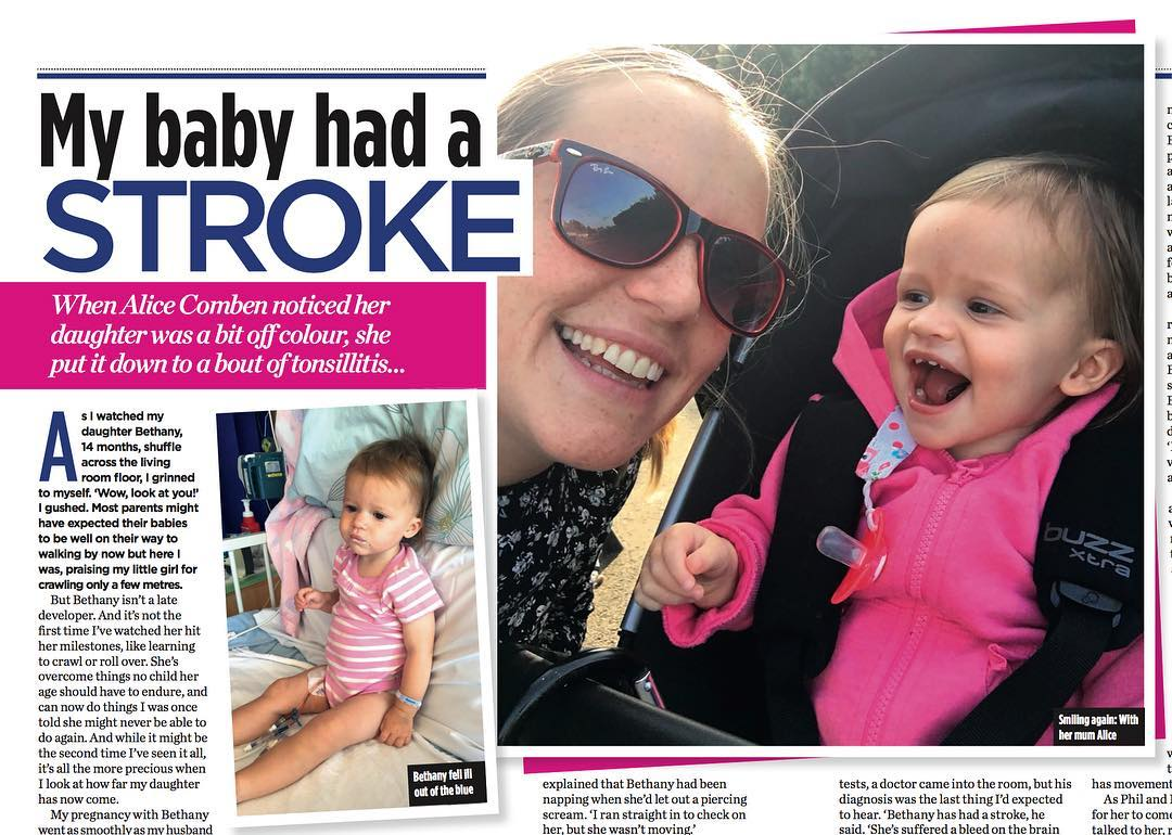 Woman: Baby had a STROKE