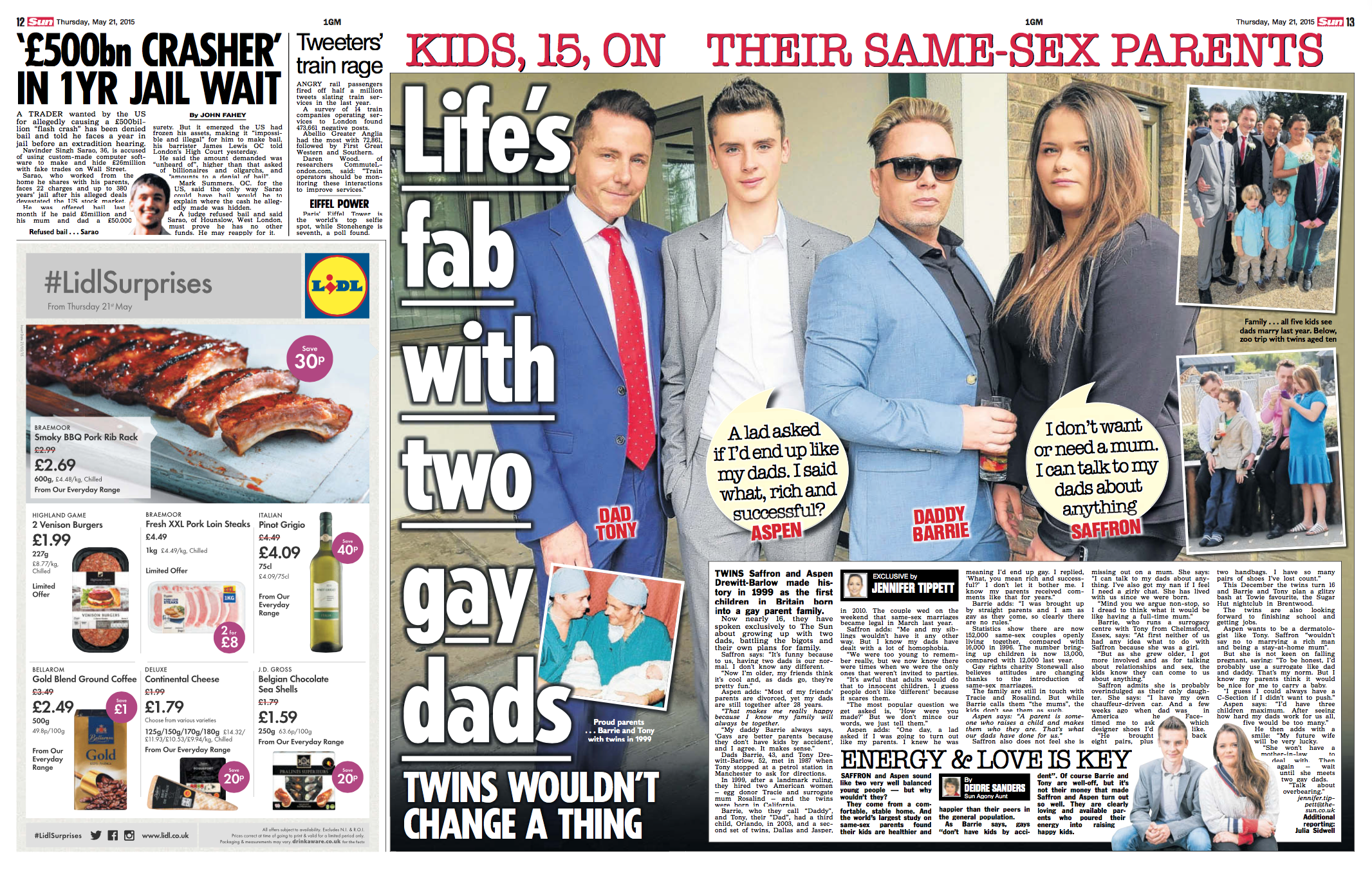 The Sun: Life's fab with gay dads