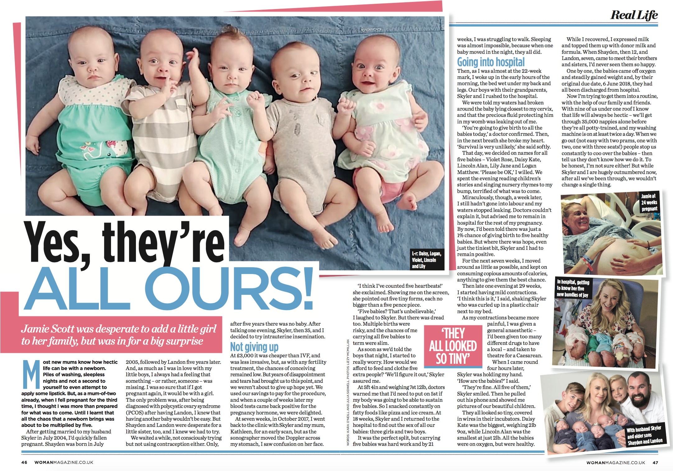 Woman: Quintuplets