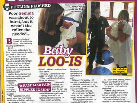 I had my baby on the loo!