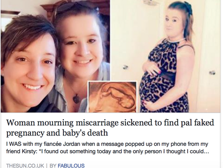 She FAKED her PREGNANCY!