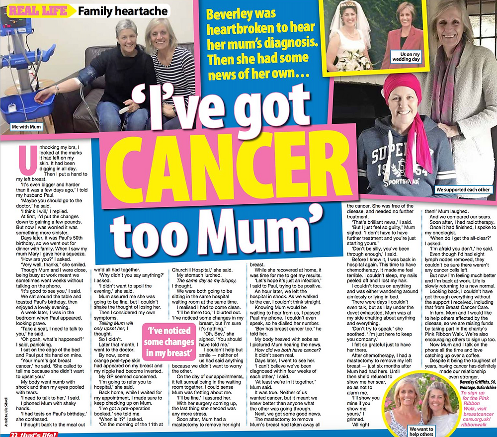 Mum and daughter cancer