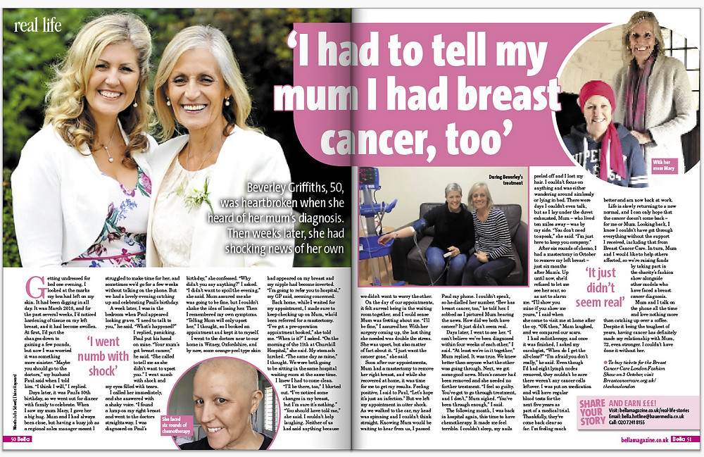 Beverley Griffiths Breast Cancer Bella