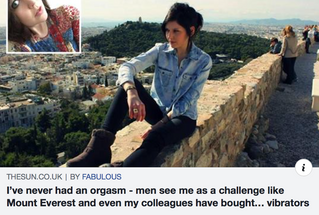 'I've NEVER had an orgasm'