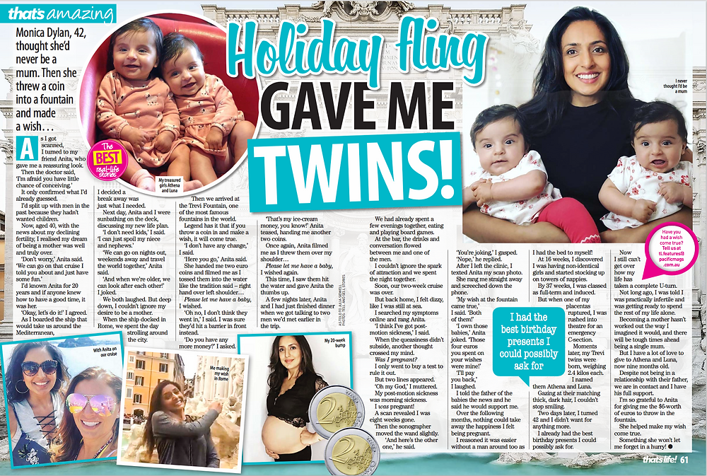 Monica Dylan Twins Holiday Fling