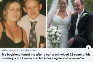 Memory loss miracle: 'I forgot my first love... but fell in love with her AGAIN'
