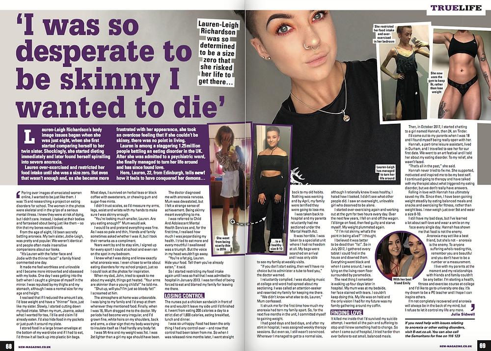 Lauren Anorexia New Magazine