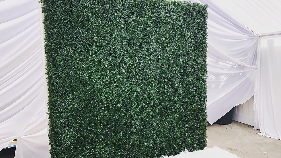 Artificial Grass Hedge Wall