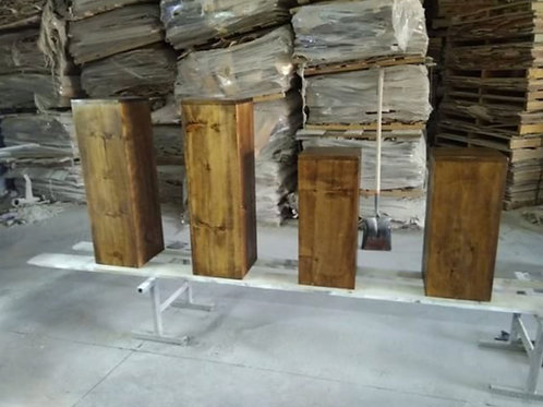 Wood Pedestals Pillars each