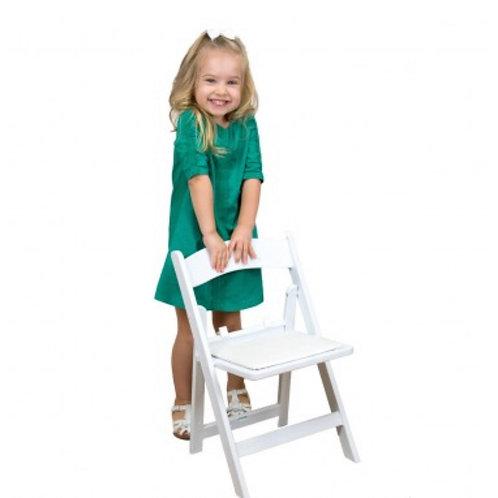 White children Resin Folding Chair
