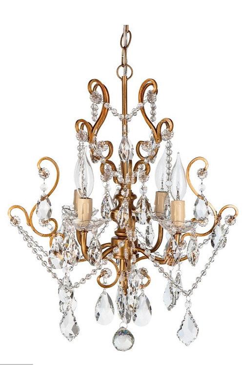 Vintage Crystal Chandelier Rental (Gold)