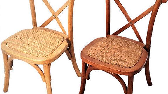 Children Wood Cross Back Chairs