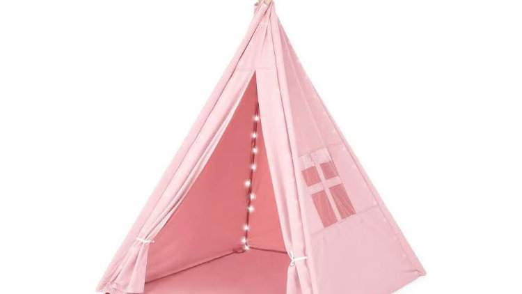 Pink Teepees with lights