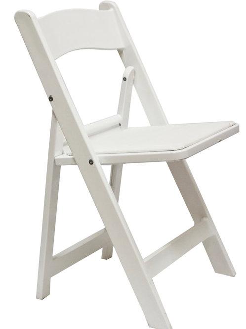 Resin White Folding Chair