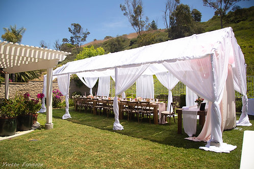 10 by 30 customized Draped Tent