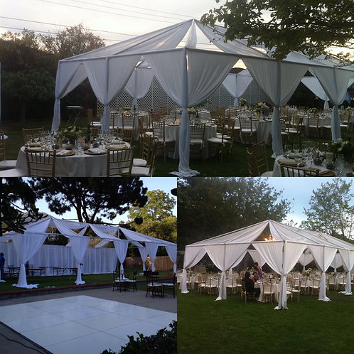 30 by 50 Draped Tent 150 Guest