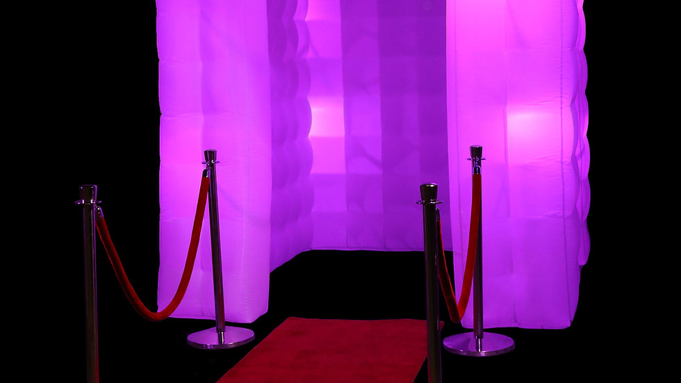 Photobooth Inflatable Enclosure with Stanchions