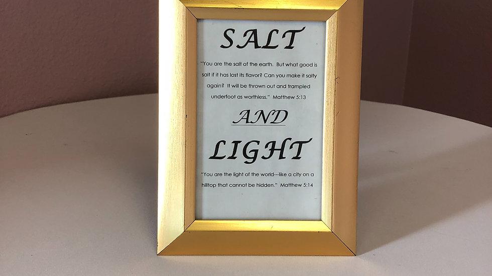 Salt & Light Center Pieces