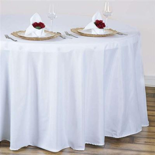 Polyester Linens round & rectangle  rental