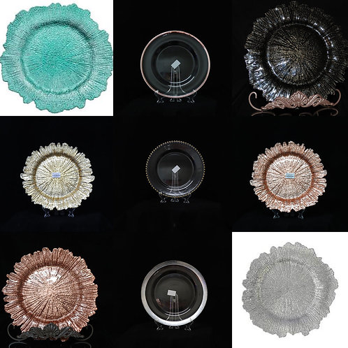 All Glass Charger Plates