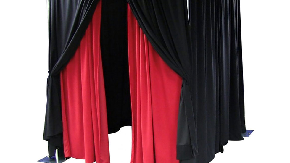 Pipe & Drape Enclosure with Stanchions