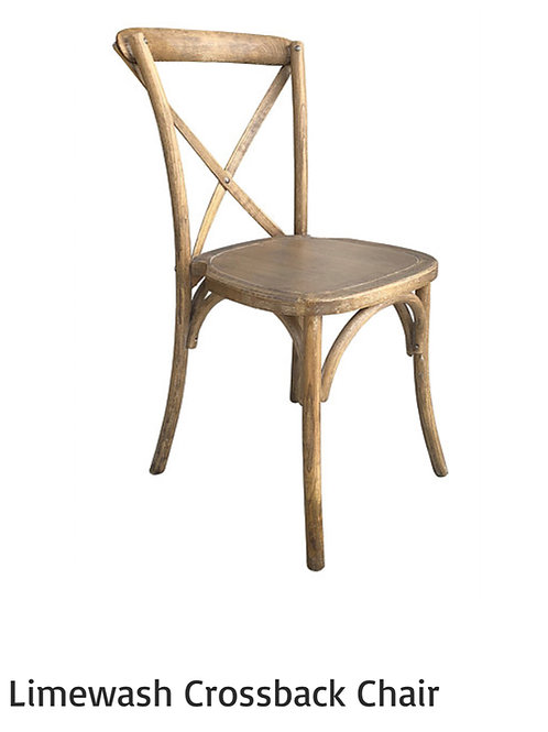 Lime Wash Cross back chairs