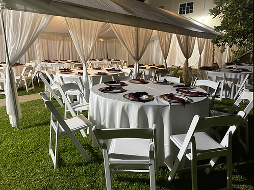 20 by 40  Customized Draped Tent