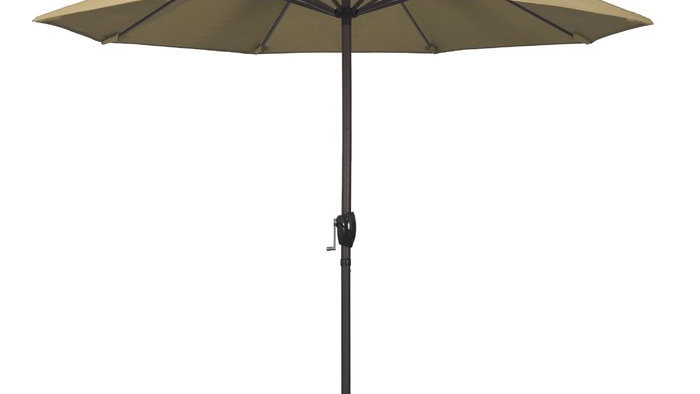 Beige umbrella with base