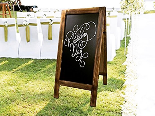Chalk Board Welcome Sign