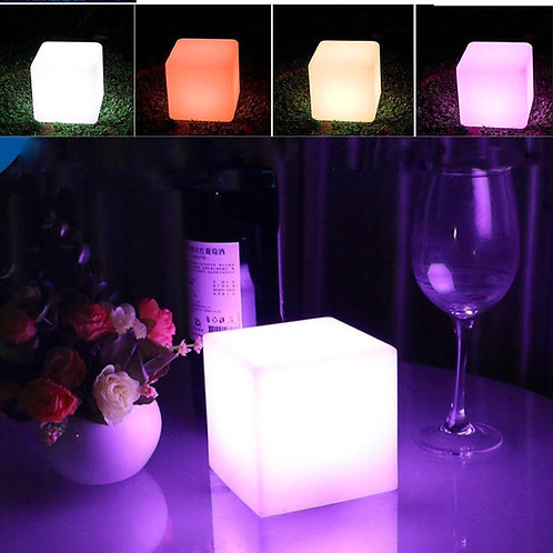 Cube light up decor for lounge