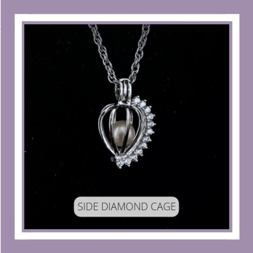 Sterling Silver Side Diamond