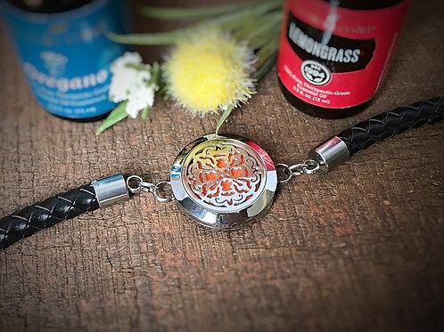 Braided Leather Band Bracelet