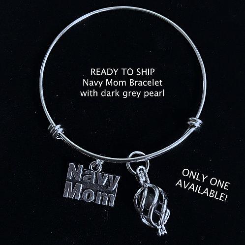 Navy Mom Bracelet- Ready to Ship