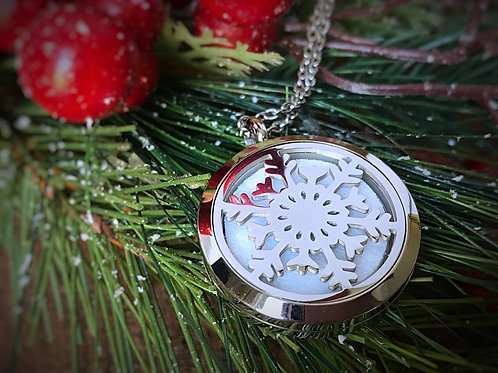 Snowflake Oil Necklace