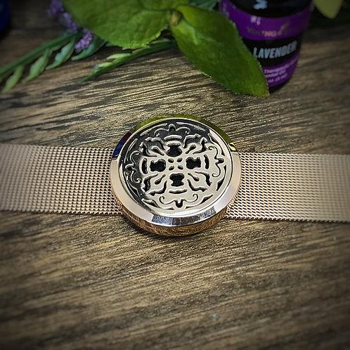 Rose Gold Mesh Band Bracelet