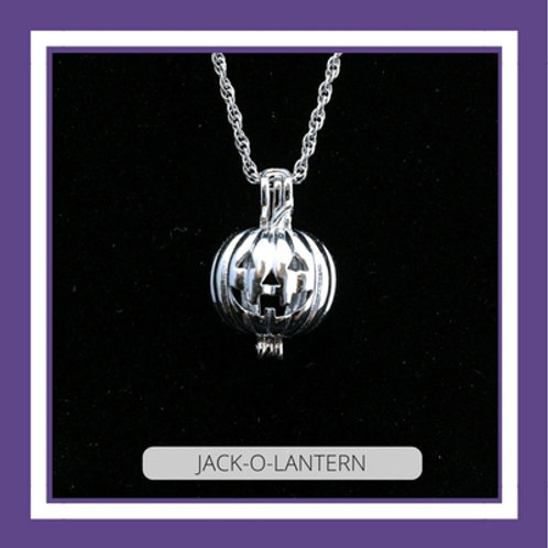 Sterling Silver JACK-O-LANTERN NECKLACE
