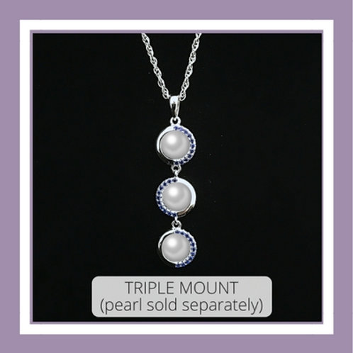 Triple Mount Necklace