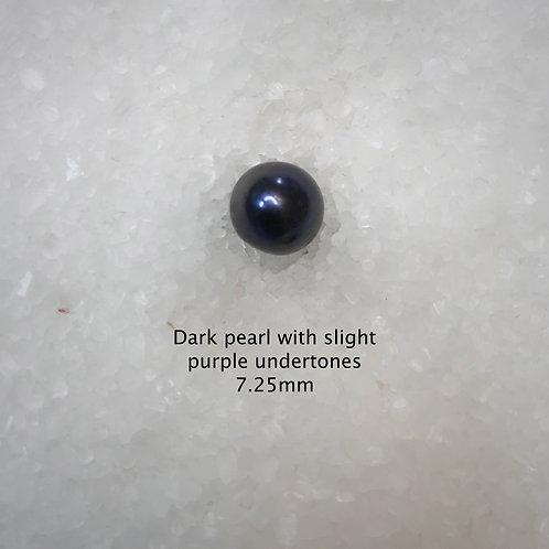 Dark Black Pearl with Purple Undertones 7.25