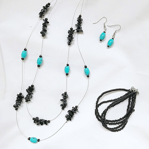 Teal and Black Set