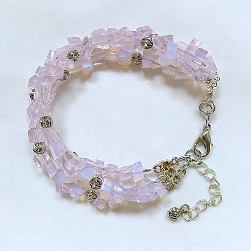 Pink Bead Fashion Bracelet