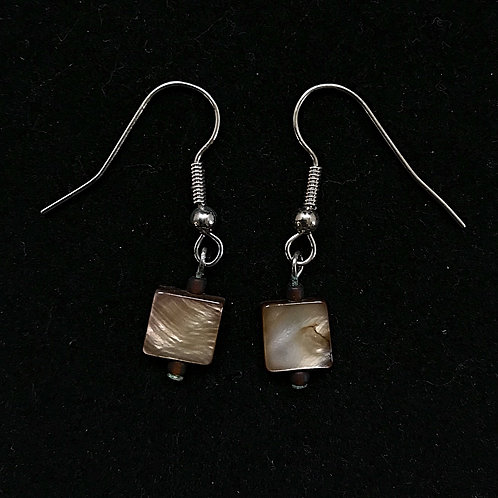 Square Brown Fashion Earrings