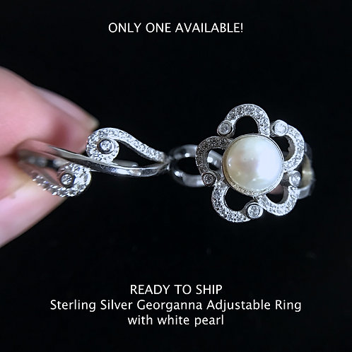 Sterling Silver Georgeanna Ring - Ready to Ship