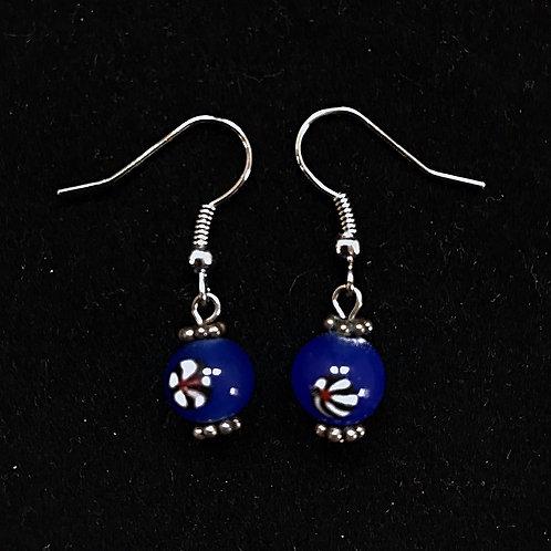 Blue Flower Fashion Earrings