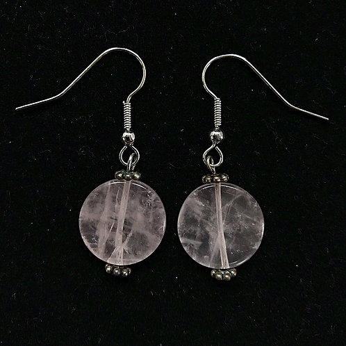 Round Pink Fashion Earrings