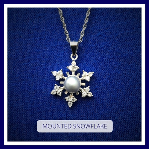 Sterling Silver MOUNTED SNOWFLAKE