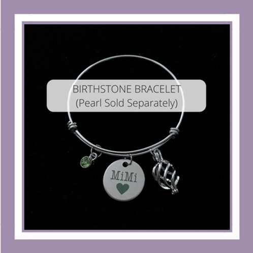 BIRTHSTONE & CHARM (5 choices and includes pearl)