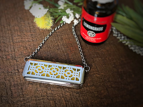 Rectangle Oil Necklace
